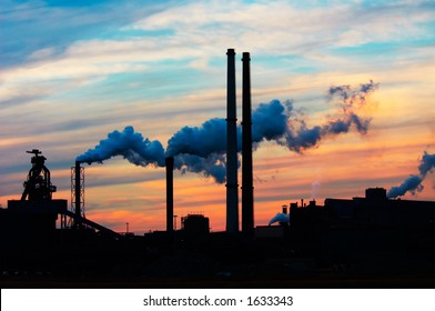 Industry and sunset