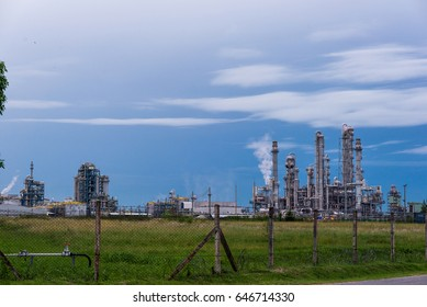 industry at thailand in morning background sunrise and sky beautiful