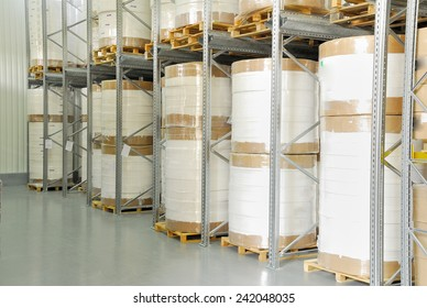 industry warehouse (storage for white roll )