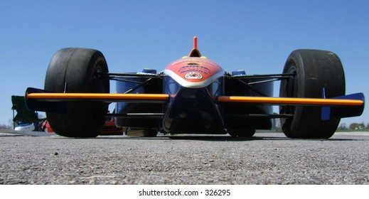 Indy race car from ground perspective