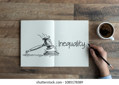 INEQUALITY AND WORKPLACE CONCEPT