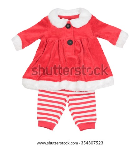 5dd5942d10a8 Infant Baby Girl Christmas Costume Isolated Stock Photo (Edit Now ...