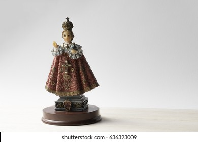 Infant Jesus of Prague with clipping path