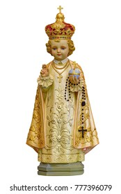 Infant Jesus of Prague statue isolated