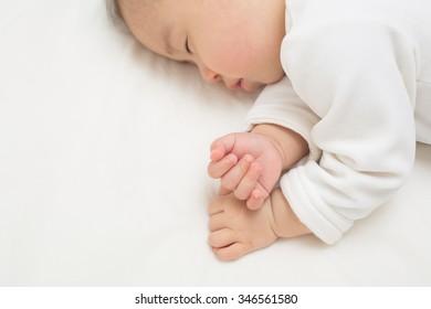infant sleeping peacefully