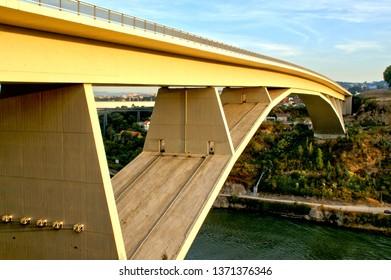 Infante bridge over Douro river in Oporto, Portugal