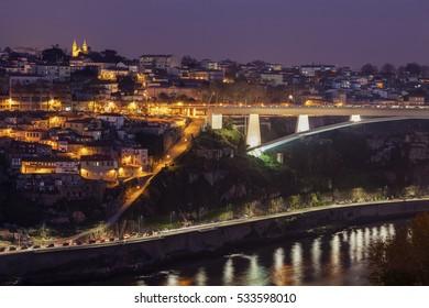 Infante D. Henrique Bridge in Porto. Porto, Norte, Portugal.