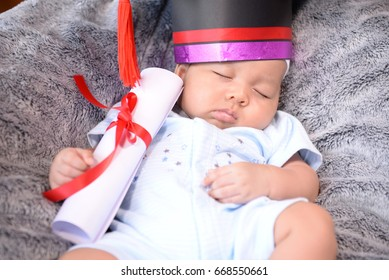 The infants in the graduation kit convey the hope of the family.