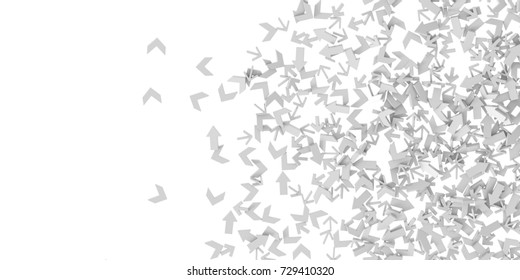 Infinite arrows background, business choice theme, original 3d rendering