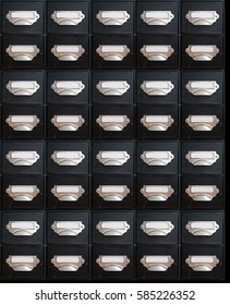 Infinite filing drawers; composite image of endless filing drawers