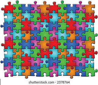 Infinite Puzzle. You can copy the pieces and to insert one beside to another in an infinite way.