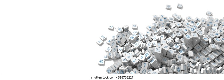 Infinite social media infinite icons 3d rendering background