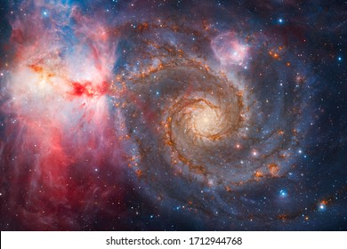 Infinite space with nebulae and stars. Elements of this image furnished by NASA.