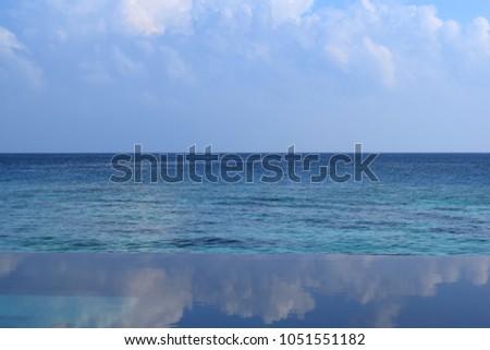 Infinity Edge Ocean Swimming Pool Stock Photo (Edit Now ...