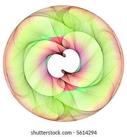 Infinity Mandala on the white background