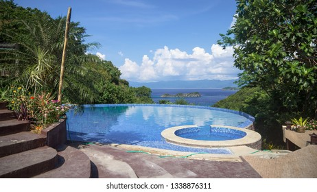 Infinity Pool with kiddie pool and Sea View at island Resort -Caramoan, Philippines