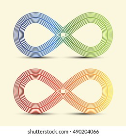 Infinity Symbol - Endless Icons Set