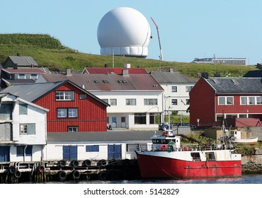 The  inflatable dome of the  well-known radar in Vardø, Northern Norway, near the Russian border