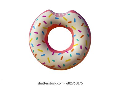 Inflatable donut circle isolated on white background