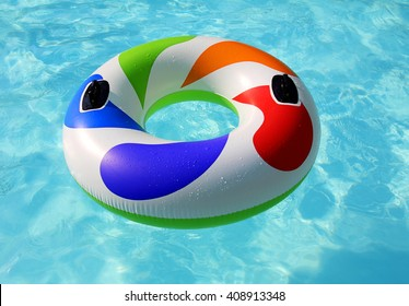 inflatable on pool