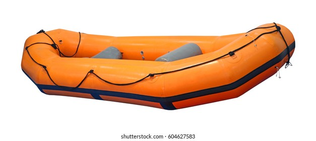 Inflatable rubber boat isolated with clipping path included