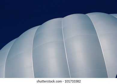 inflated hot air balloon over the sky