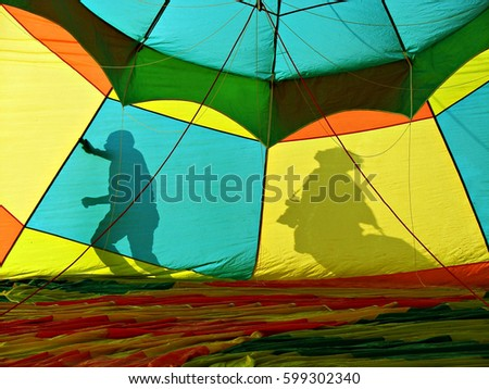 Inflating the balloon for aerial flight