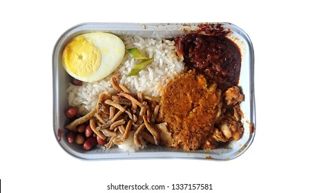 Inflight meals. Nasi Lemak. One of the asian favourite dishes.
