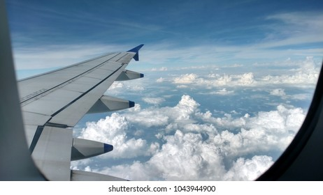 in-flight photography clouds