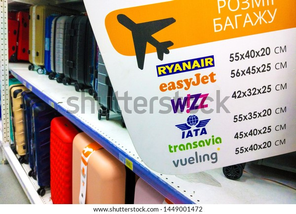 Info Cabin Baggage Allowance Ryanaireasyjetwizz Airiatatransavia Stock Photo Edit Now 1449001472
