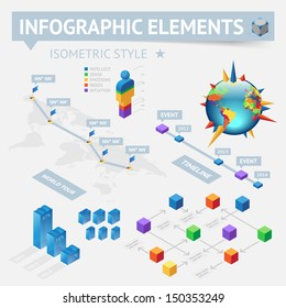Infographics design elements.