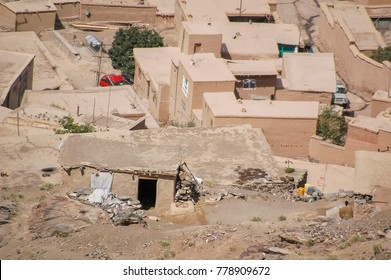 Informal settlements on the hillsides of Kabul Afghanistan
