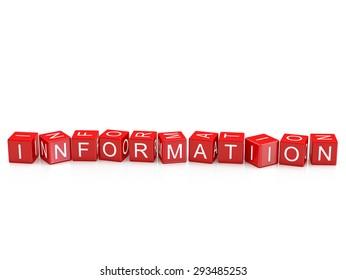 Information - Alphabet blocks isolated