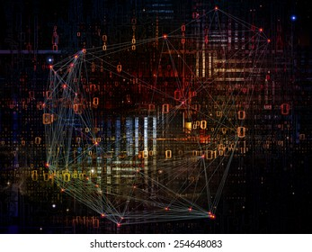 Information Cloud series. Abstract composition of connected abstract elements suitable as element in projects related to cloud networking, information, data storage and modern technology