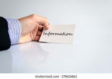 Information Concept in business man hand