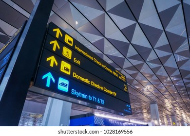 Information sign at airport