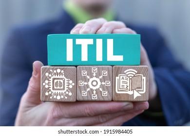 Concepto de tecnología de la información del ITIL. Biblioteca de Infraestructura de Tecnología de la Información.