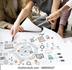 Information Technology Connection Graphics Concept