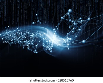 Information Tide series. Interplay of fractal wave, network structure and numbers on the subject of digital business, science, communications and technology