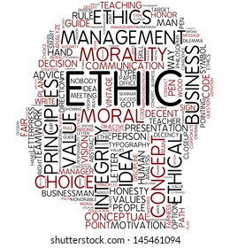 Info-text graphic - ethic