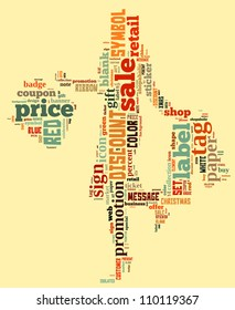 Info-text graphics Shopping composed in Woman with Shopping Bag shape concept in light background