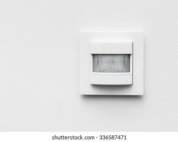 Infrared detector in the house on white background