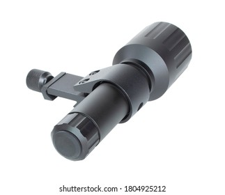 Infrared emitter used for a night vision scope isolated on white