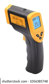 Infrared laser thermometer isolated on white background - 3D illustration