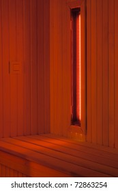 A infrared sauna cabin, for musscle pain threatment