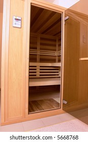 infrared sauna in modern hotel