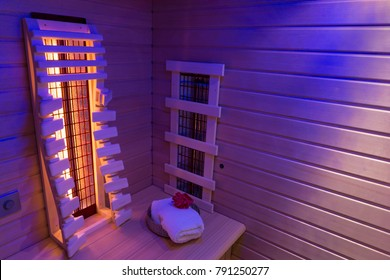 Infrared sauna in ultra violet light