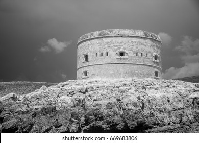 Infrared view of fortress in Kotor