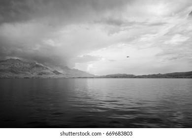 Infrared view of Kotor bay