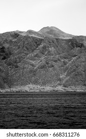 Infrared view of mountain in Kotor Bay